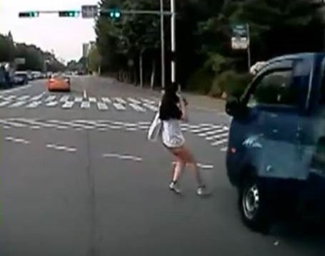 Keep your head up and your phone down while crossing the street.