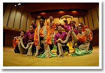 Dancers performing a Malay traditional dance