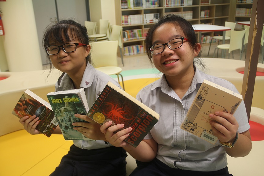 Happy readers at the Library