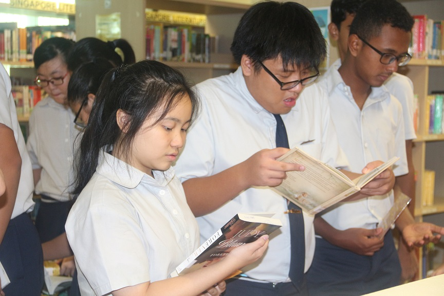 Students at the Book Launch